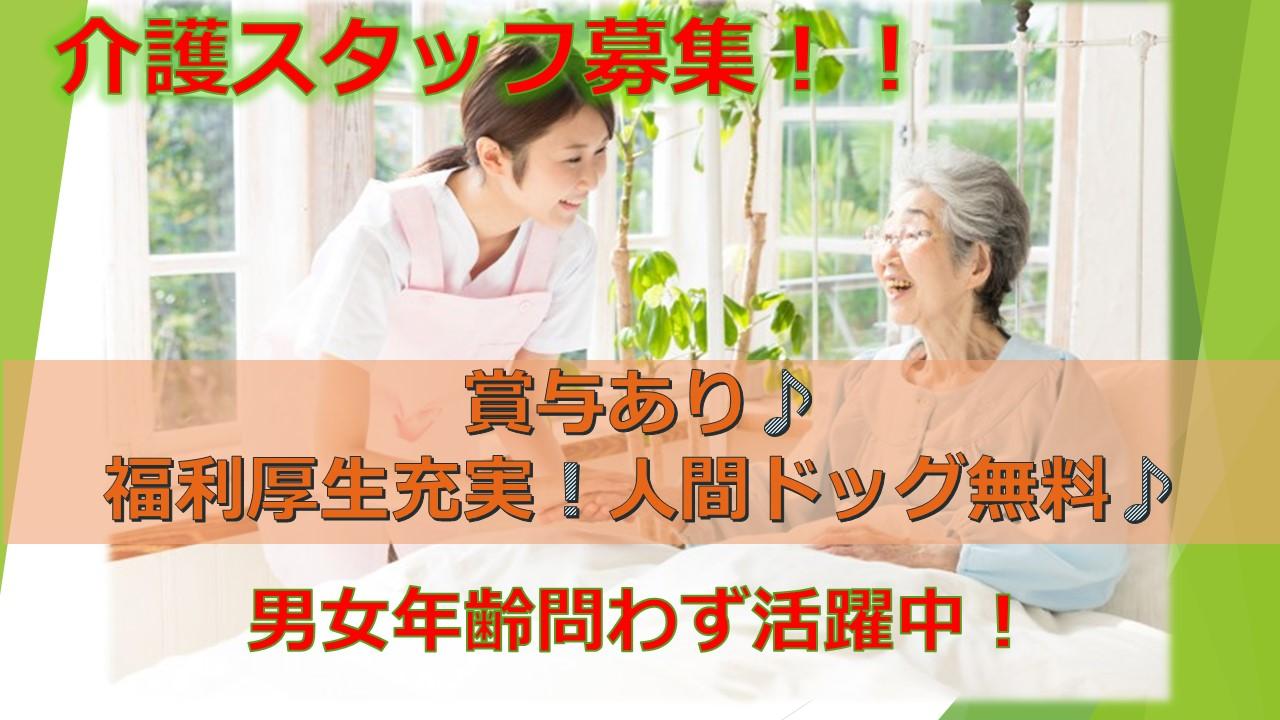 男女問わず大募集!人間ドッグ無料★福利厚生充実の老人ホームで介護業務 イメージ