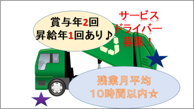 【賞与年2回・昇給年1回あり☆未経験可】廃棄物やリサイクル資源等の回収ドライバー イメージ