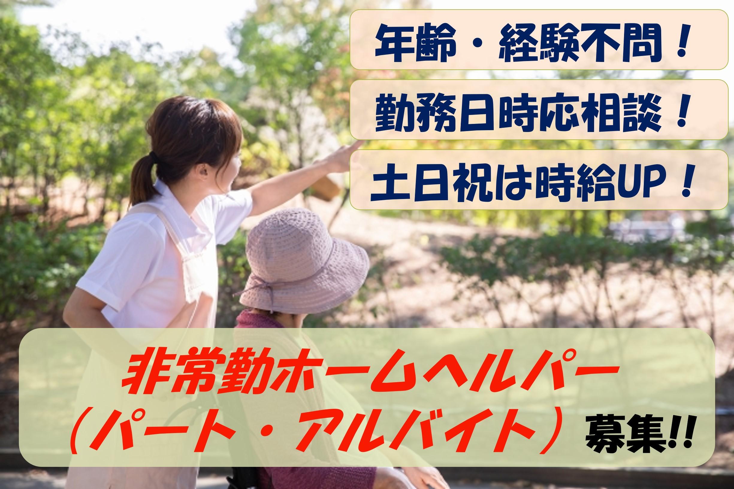 【即面談可能】勤務日時応相談!土日祝は時給UP!非常勤ホームヘルパー募集 イメージ