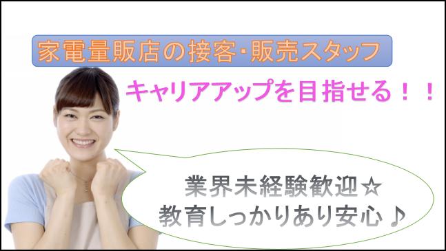 【急募★転勤なし!産・育休取得実績有♪】家電量販店社員[愛知県内、又は近郊] イメージ