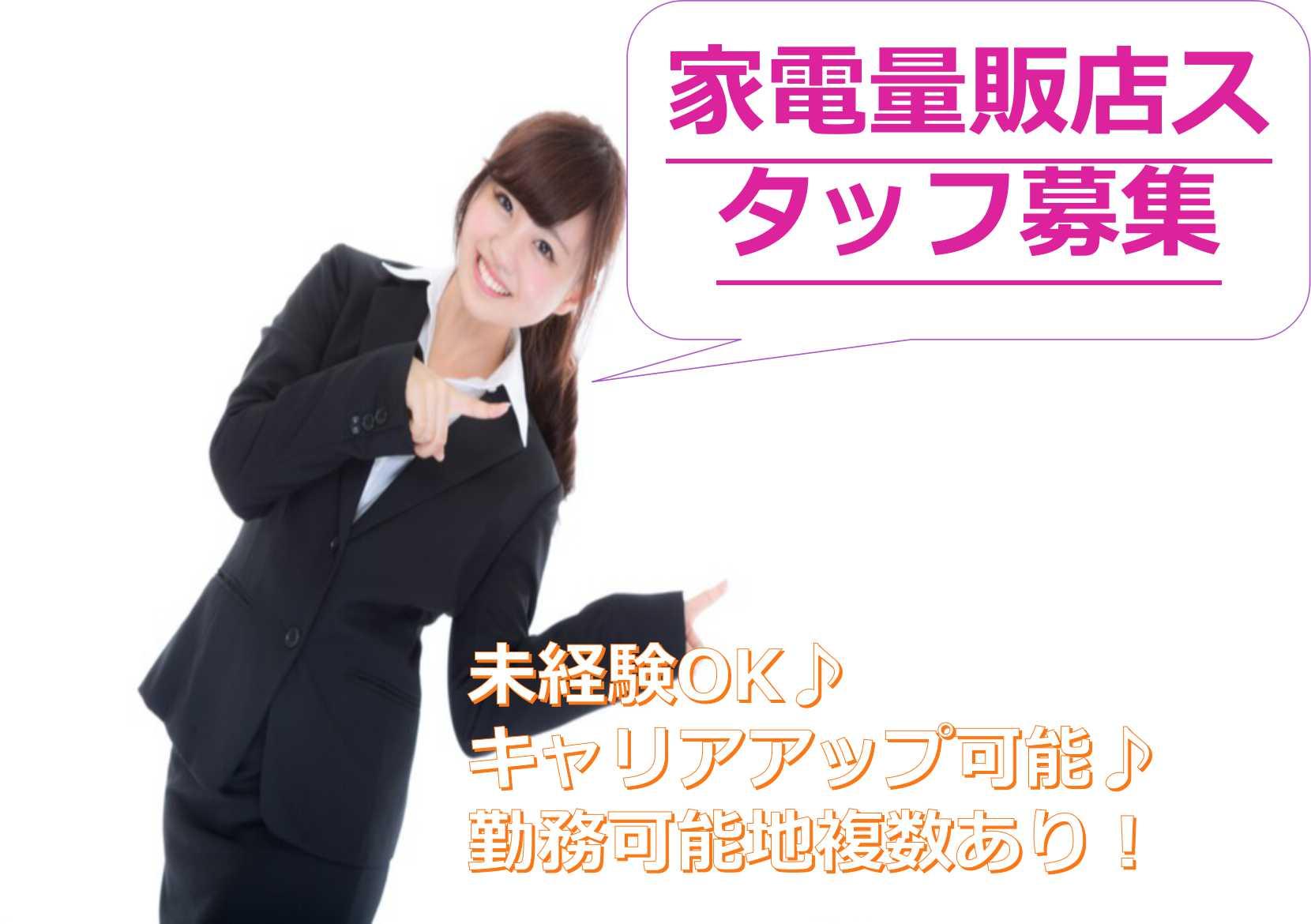 【静岡県】勤務可能地複数!未経験OKの家電量販店スタッフ【即面談可能】 イメージ