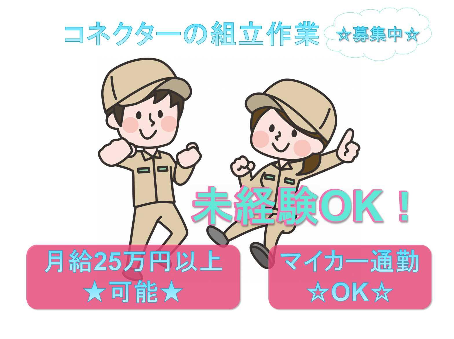 【岩手県一関市】未経験OK☆マイカー通勤OK☆コネクターの組立作業☆ イメージ