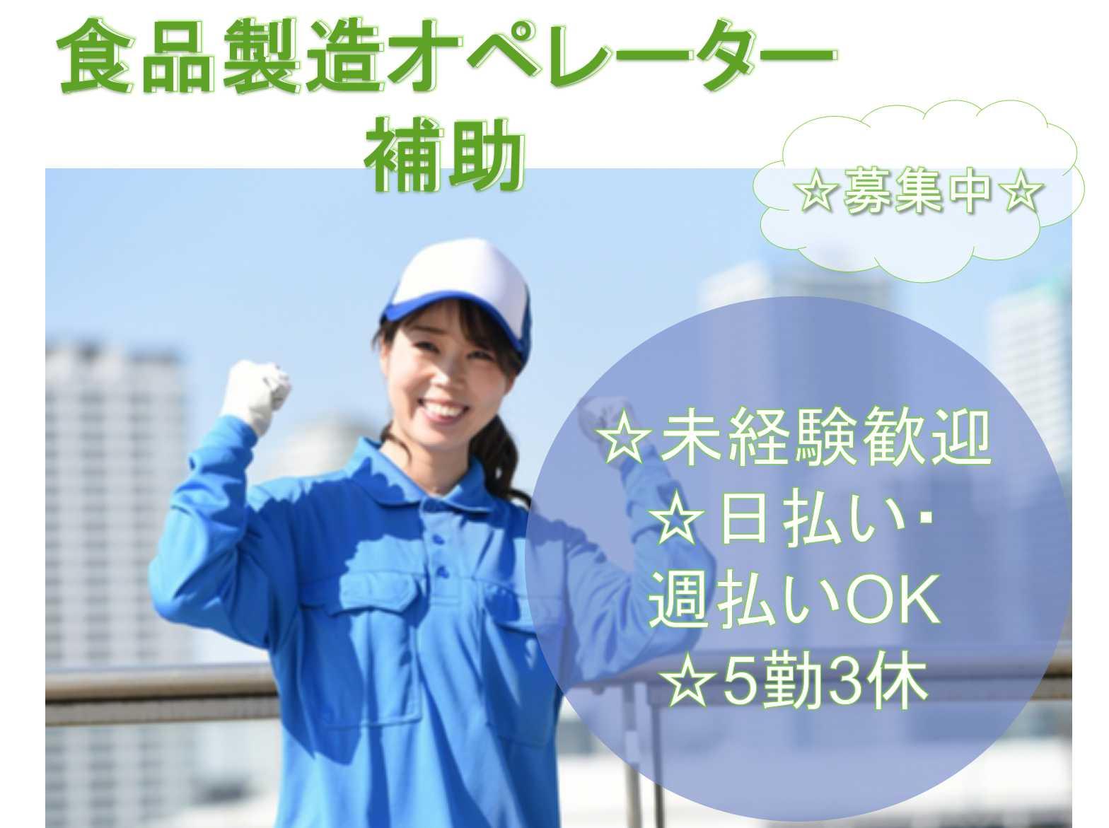 【新潟県北蒲原郡聖籠町】未経験歓迎◆支払い方法が選べる◆食品製造オペレーター補助◆ イメージ