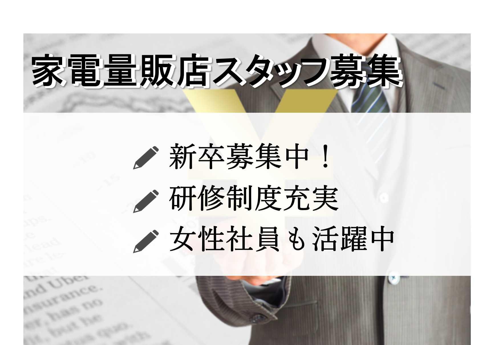 【名古屋市中区】新卒さん歓迎!研修制度充実!家電量販店スタッフ【即面談可能】 イメージ