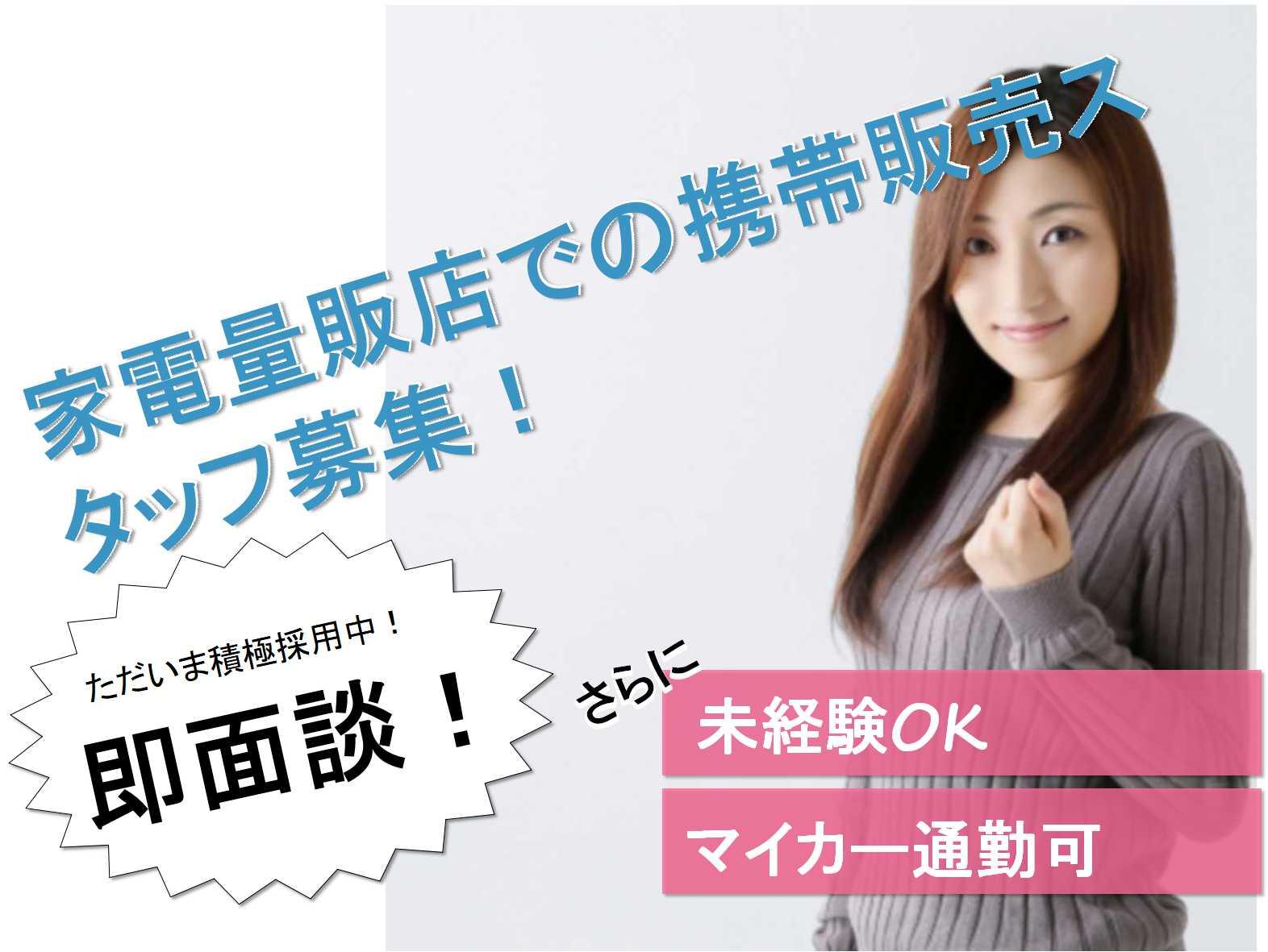 【三重県全域】車・バイク通勤OK!キャリアアップも目指せます!家電量販店での携帯電話スタッフ【即面談可】 イメージ